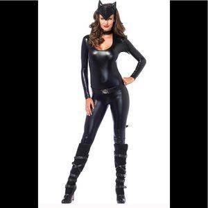 Frisky Feline Cat Woman 3 Pc Catsuit Dress-Up Sz S